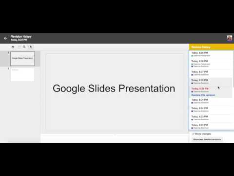 How to view revision history in Google Slides