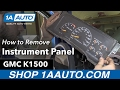 How to Replace Bulbs Instrument Panel 88-98 GMC K1500