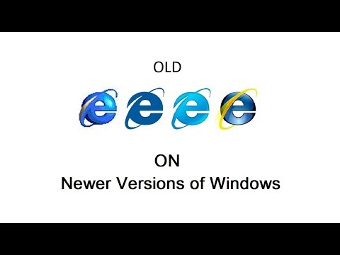 How to Use Old Versions of Internet Explorer on Newer Versions of Windows