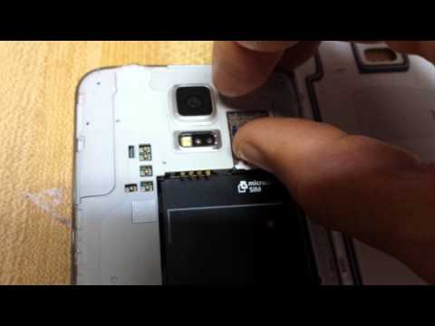 SAMSUNG GALAXY S5: HOW TO INSERT & REMOVE SD CARD