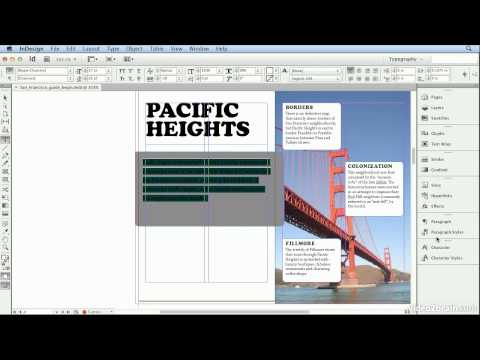 Adobe Indesign CS6 Tutorial - 40  Using Find Font to Replace Missing Fonts