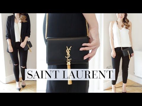 WHAT FITS INSIDE & 4 OUTFIT STYLING IDEAS - SAINT LAURENT KATE BAG