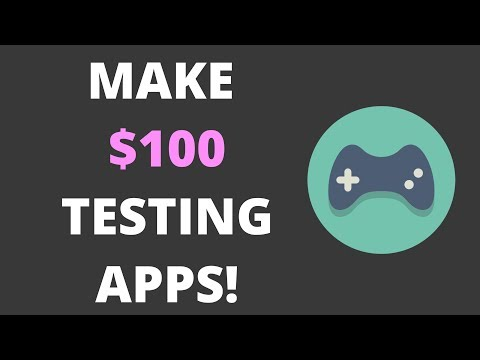 MAKE $100 BY PLAYING MOBILE GAMES AND TESTING APPS!! {EASY}