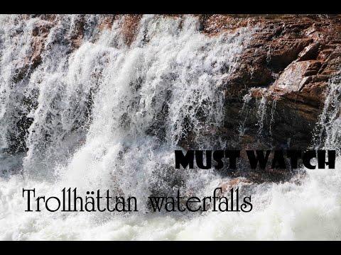 Trollhättan waterfalls in Sweden