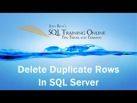 Delete Duplicates in SQL - SQL Training Online