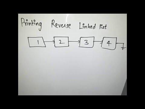 Printing Reverse Of a Linkedlist || Hackerrank