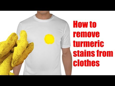 How to remove turmeric stains from clothes