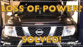 Nissan Navara Pathfinder Black Smoke Diagnosed underpowered