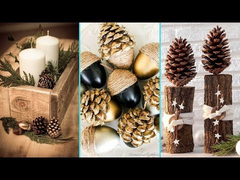 ❤ DIY Shabby chic style Pinecone & Acorn decor Ideas ❤| Home decor & Interior design| Flamingo Mango