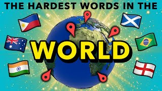 People Try To Pronounce The HARDEST Words From Around The World (India, UK, Philippines & MORE)