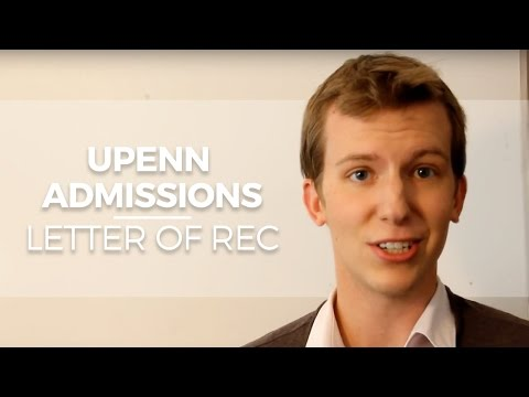 UPENN Admissions: Asking for a Letter of Rec for the University Of Pennsylvania Wharton School