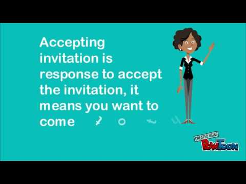 Asking, Accepting and declining an invitation