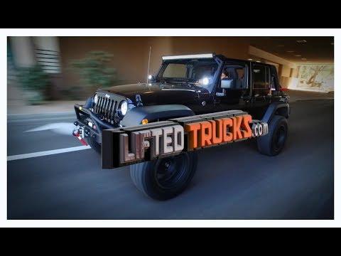 Jami Goldman Marseilles with Lifted Trucks Custom Jeep Wrangler in Phoenix Arizona, USA