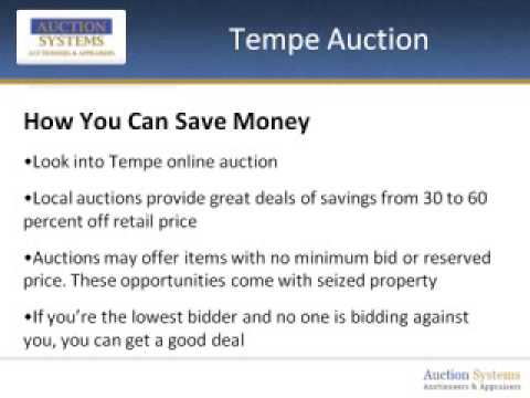 Tempe Auction: What You Can Expect to Find at Your Local Auction