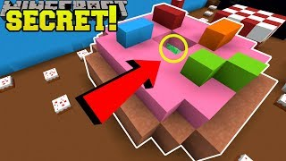 Minecraft: SECRET INSIDE THE DONUT!! - FIND THE BUTTON EMERALD - Custom Map