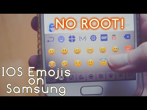 How to get IOS Emojis on Samsung Galaxy S7/S8 - WITHOUT ROOT  (Android 7.0; March 2018)