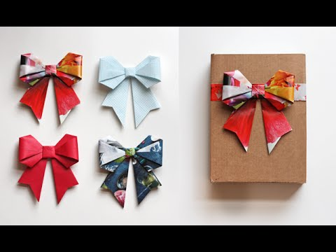 Cute Paper Bow Origami | Easy Origami | PaperMade Things and Crafts