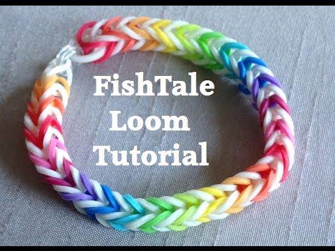 EASY FISHTAIL Loom Bracelet Tutorial Rainbow Loom l JasmineStarler