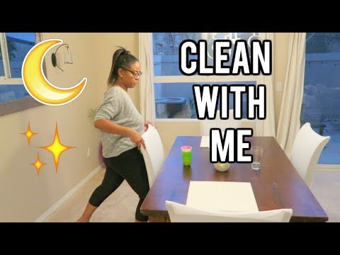 MY NIGHT TIME CLEANING ROUTINE! CLEAN WITH ME! 2018