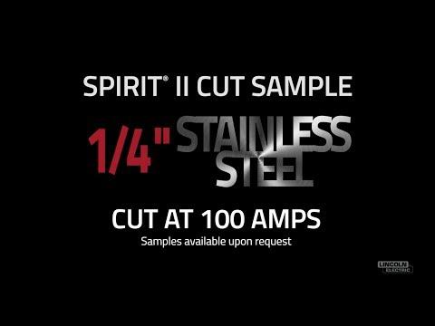 "Spirit® II Plasma Cut Sample, 1/4"" Stainless Steel Cut at 100 AMPS"