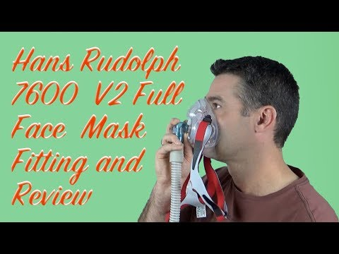 Hans Rudolph 7600 V2 Full Face Mask Fitting and Review