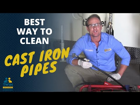 What is the best way to clean cast iron pipes?