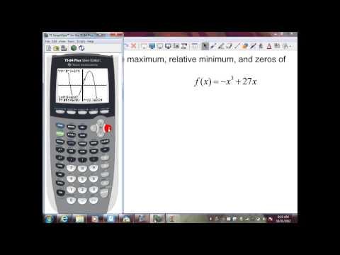 sec6 2 p2 using a calculator to find max, min, & zeros