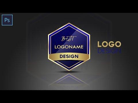 Photoshop Tutorial   Shield Logo Design   In Hindi / Urdu