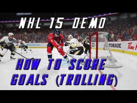 NHL 15 Demo - How to score goals (trolling)