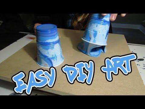 Flip Cup Painting - Easy DIY Art | Painting Wood / MDF