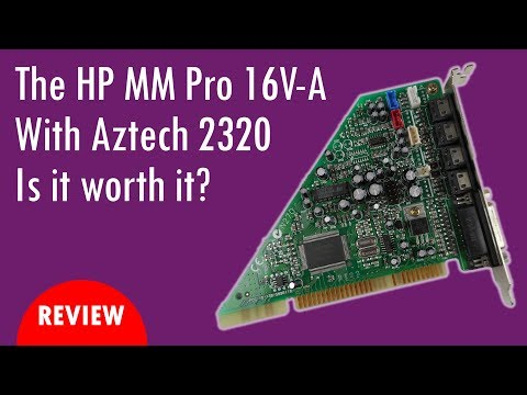HP Multimedia Pro 16V-A sound card with AZT2320 Chip for DOS Games