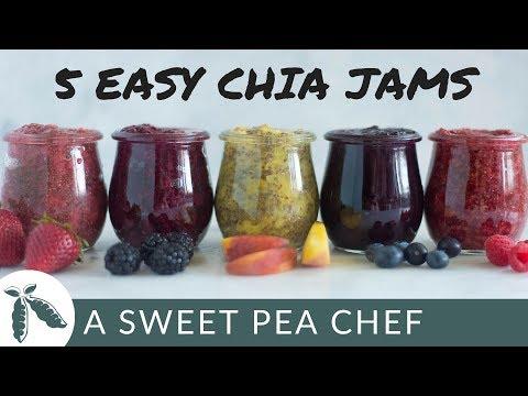 5 Easy Homemade Chia Jams   Sugar-Free, Easy & Fast!   A Sweet Pea Chef