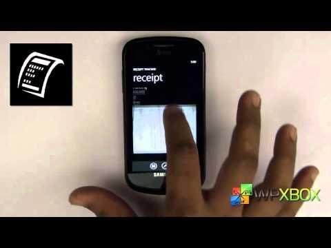Receipt Tracker App for Windows Phone