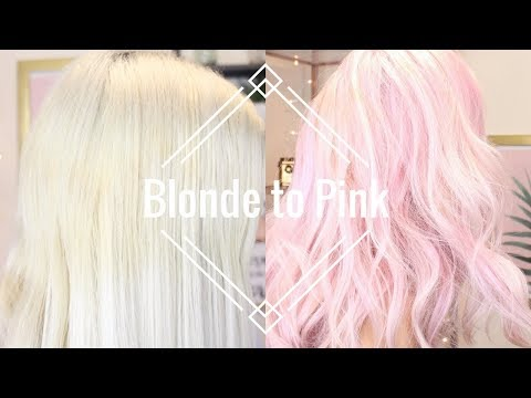 How to: Blonde to Pastel Pink Hair