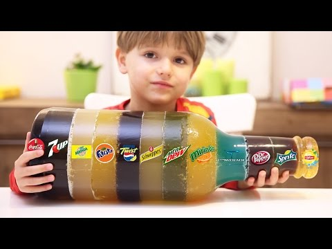 Giant Multi Soda Drinks DIY GUMMY - Coca-Cola, 7Up, Fanta and Others