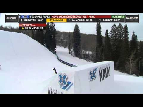 Mark McMorris earns highest score in Snowboard Slopestyle history - X Games