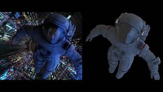 CGI Astronaut in space - VFX  - Spaceship - Space station - International Space Station
