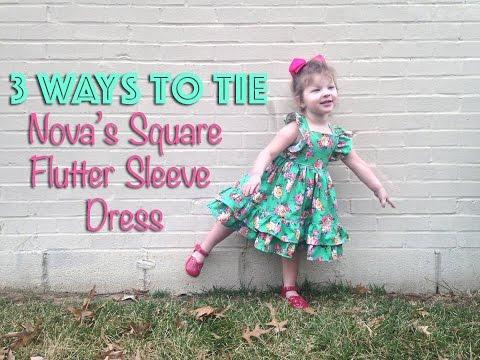 Nova's Square Flutter Sleeve Dress Pattern by CKC Patterns