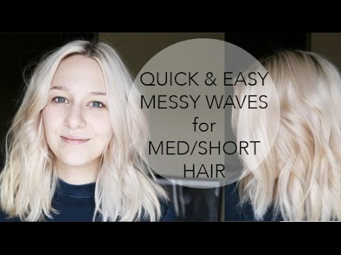 HOW TO: MESSY WAVES for MEDIUM LENGTH HAIR