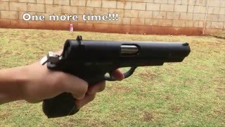 ASG CZ75 Shell Ejecting Pistol GBB Slow Motion Shooting