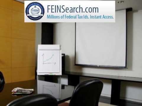 FeinSearch.com - Get Tax ID,Federal Tax ID, Search Tax ID,Federal Tax ID,EIN Lookup