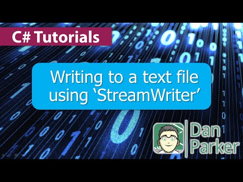 C# Tutorials : Writing to a text file using 'StreamWriter'