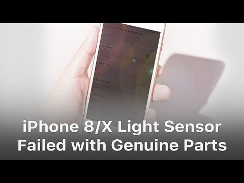 iPhone 8/X Light Sensor Failed Even With Genuine Parts Repaired By Third Party