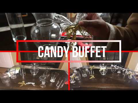 Dollar tree DIY+ Ideas for decorating an affordable candy buffet