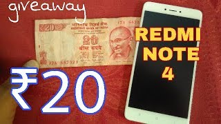 20 Only Redmi Note 4 Latest Tricks Giveaway