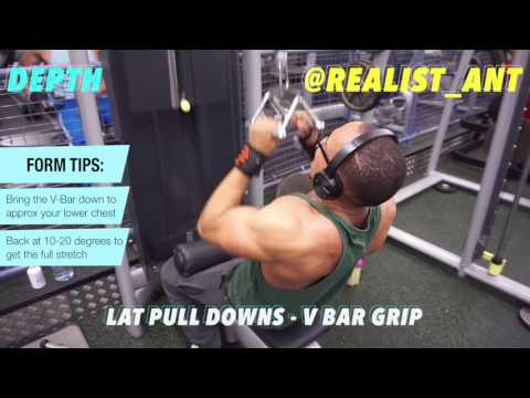 Build A Bigger and Wider Back - Variations of Lat Pull Down: Close Grip or Wide Grip?