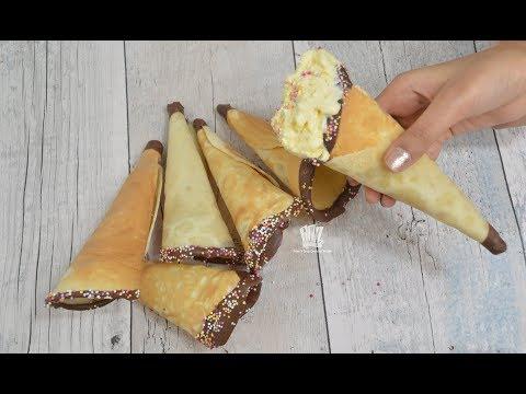 ঘরে তৈরি আইসক্রিম এর কোণ রেসিপি ।। Homemade Ice Cream Cones Recipe