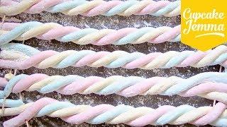 How to Make Flumps! AKA Colourful Marshmallow Ropes   Cupcake Jemma