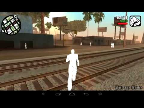 GTA San Andreas 1.07 Android,white character and people