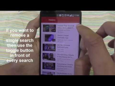 How to Delete YouTube Watch and Search History on Lg G2